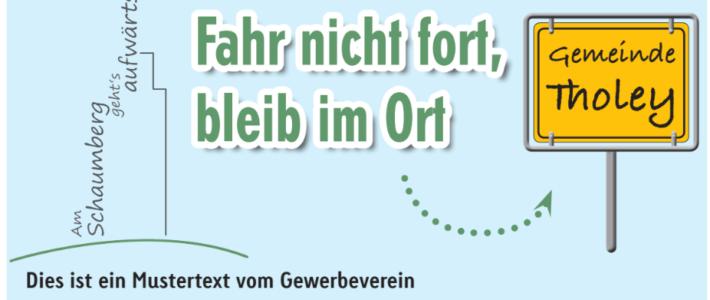 Werbemaßnahmen für Mitglieder des Gewerbeverein Schaumberg e.V.